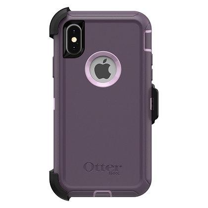 OtterBox iPhone Defender Series Xs, Purple Nebula (Orchid/Purple)