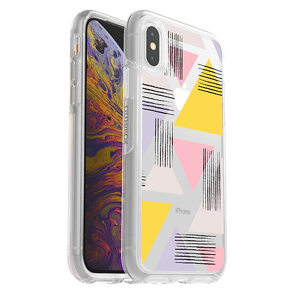 OtterBox Symmetry Clear iPhone Xs, Graphic Love Triangle