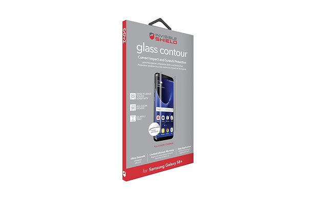 InvisibleShield Glass Contour Samsung Galaxy S8 Plus, Screen Clear