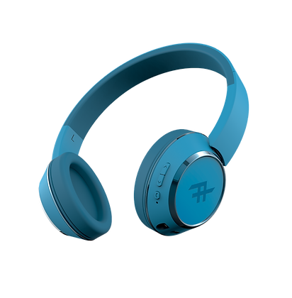 iFrogz Audio Coda Wireless Bluetooth Headphone with Mic, Blue