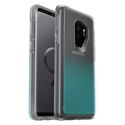 OtterBox Symmetry Clear Samsung Galaxy S9+, Graphic Aloha Ombre (Flake/Clear)