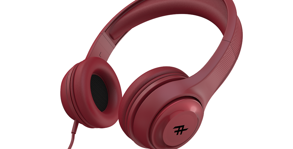 iFrogz Audio Aurora Wired Headphones with Mic, Red