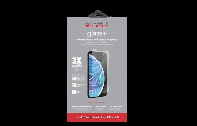 InvisibleShield GlassPlus iPhone X, Case Friendly Screen