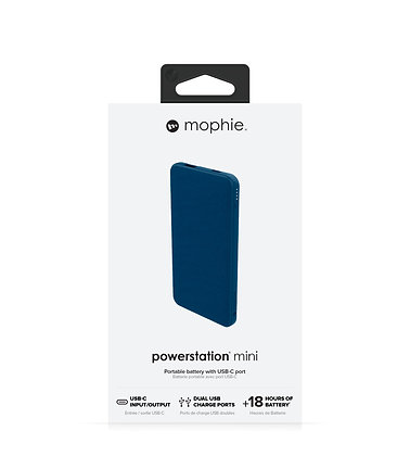 Mophie Powerstation USB-C & USB-A External Battery, Navy