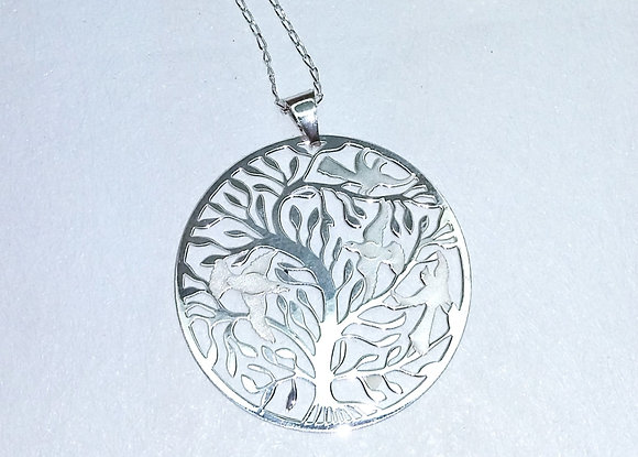 Tree of Life with Birds Pendant