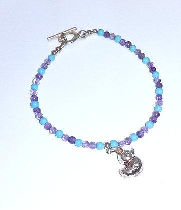 Silver Duck Bracelet