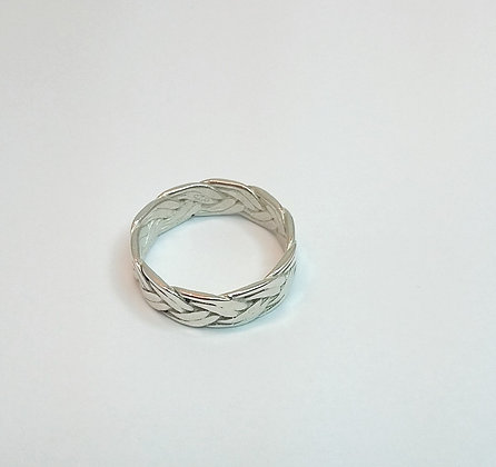 Plait Ring in Sterling Silver