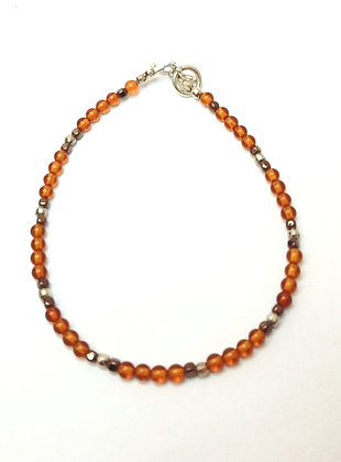 Amber & Hematite Bracelet.