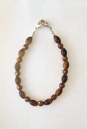 Tiger's Eye and Hematite Bracelet