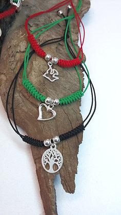 Knotted Charm Bracelet