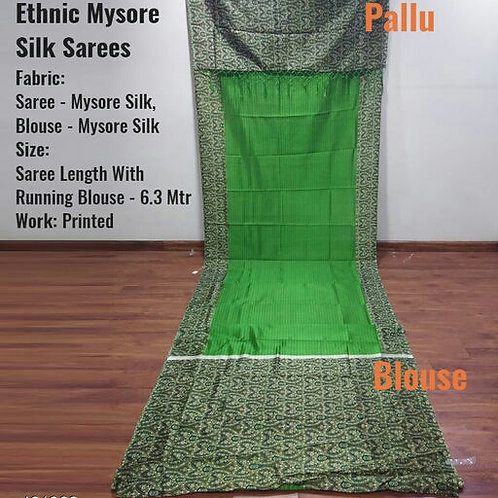 Ethnic Mysore Silk Sarees