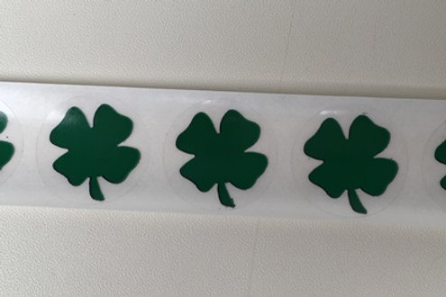 Star and Shamrock Scratch Off Stickers
