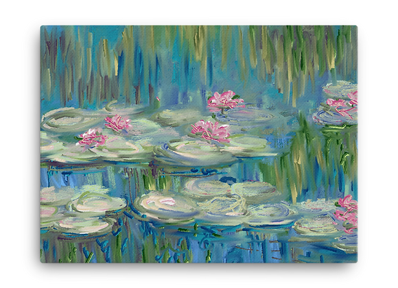 """Water Lily"" 00.4 Canvas"