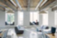 Oficina moderna con pintura ecológica
