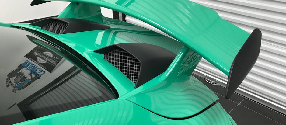 2018 Porsche GT3 Deck Lid Vent Cover & Spoiler Removal
