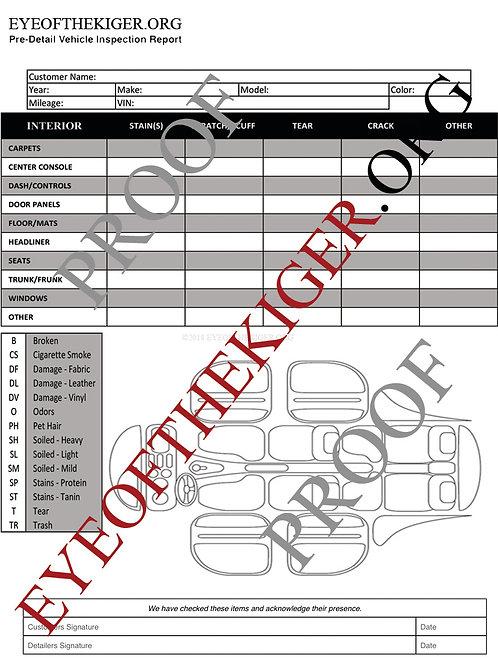 Interior Inspection Form (Code: Freegeneral)