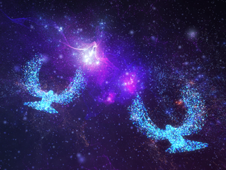 つくば初登場!とりこ舎のデジタルアート「宇宙散歩」