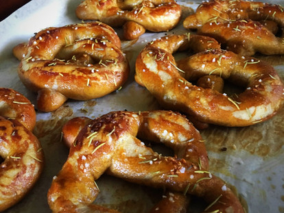 Rosemary & Sea Salt Buttered Pretzels