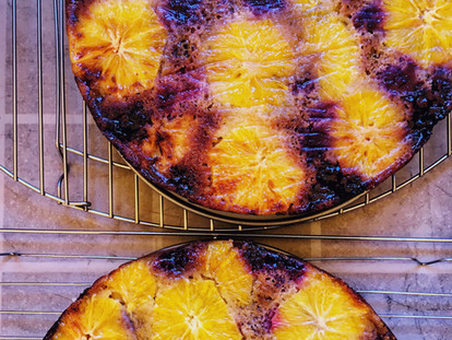 Blackberry and Orange Torte