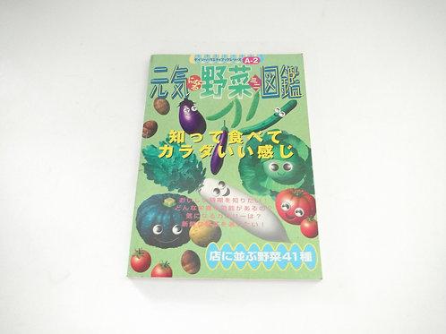 Libro informativo de verduras en japonés