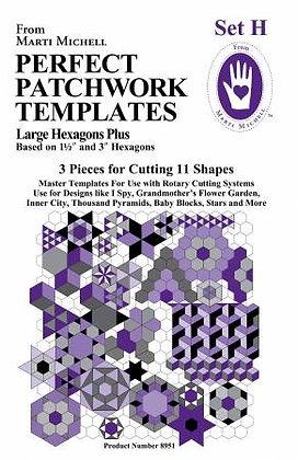 Set H - Perfect Patchwork Templates - Marti Michell