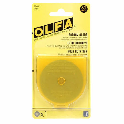 Olfa 60mm Rotary Blades - 1 pack