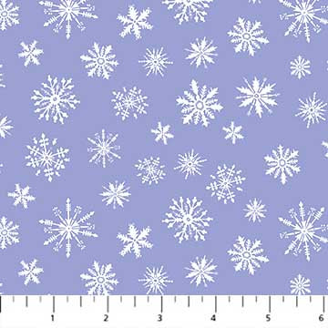 Cozy Up - Snowflakes Blue - 1/2 meter