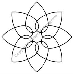 """Stencil - Interlocking Hearts - 3-1/2"""""""