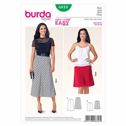 Burda Skirt Pattern #6818