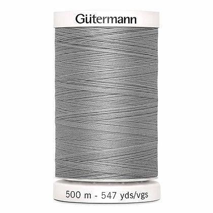 Gutermann 100% Polyester Thread - 500m - Mist Grey