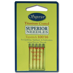 Superior Topstitch Needles #100/16