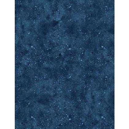 Essentials Spatter - Dk Blue - 1/2 meter