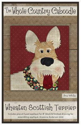 Wheaton Scottish Terrier - Precut Fused Applique Pack