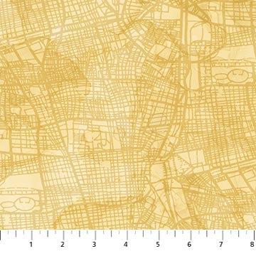 Journey - Street Map Ochre - 1/2 meter