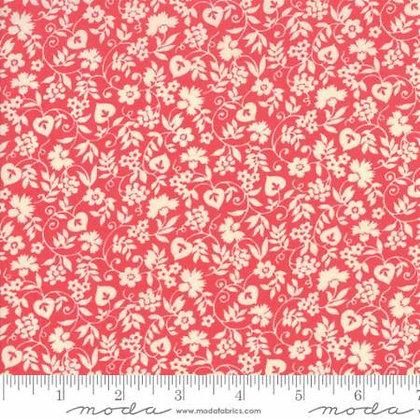 Merry Go Round - Mono Floral Pink - 1/2 meter