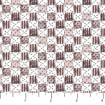 Cozy Up - Blocks Beige - 1/2 meter