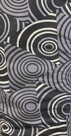 Circles - Wideback - Black/Grey - 1/2 meter