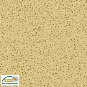 Quilter's Coordinates - Alphabet - Mustard Yellow - 1/2 meter