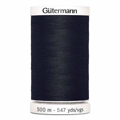 Gutermann 100% Polyester Thread - 500m - Black