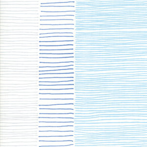 Breeze by Zen Chic - Lineage White Blue - 1/2 meter