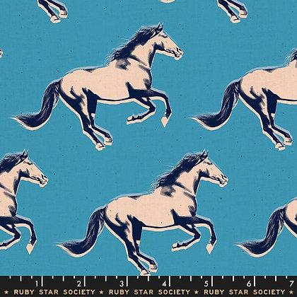 Darlings by Ruby Star - Vintage Blue - 1/2 meter
