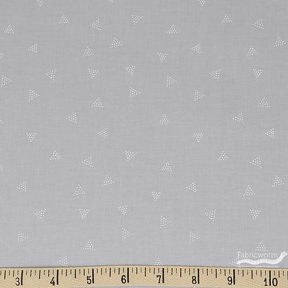 Triangle Dots - Pebble Grey  - 1/2 meter