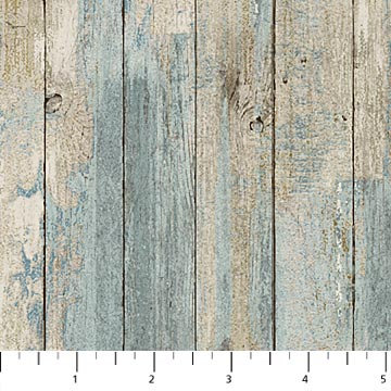 FLANNEL - Outdoor Adventure-Distressed Wood (Wedgewood) - 1/2 meter