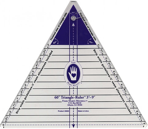 60 Degree Triangle Ruler - Marti Michell
