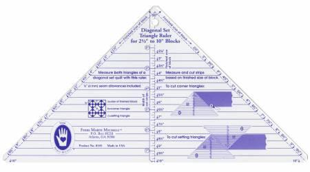 Small Diagonal Set Triangle Ruler - Marti Michell