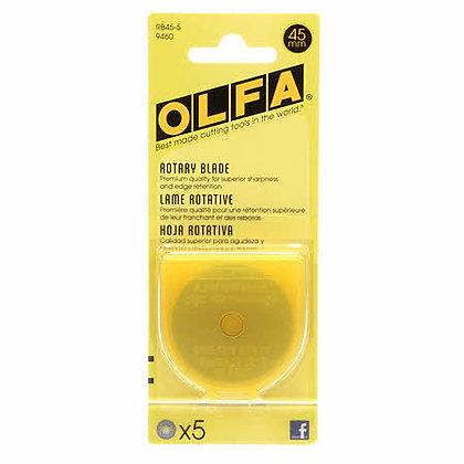 Olfa 45mm Rotary Blades - 5 pack