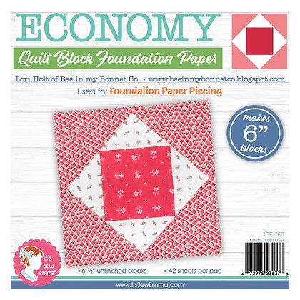 "6"" Economy Quilt Block Foundation Paper"