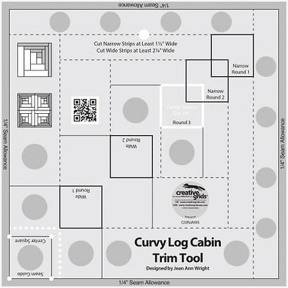 "Curvy Log Cabin Trim Tool - 8"""