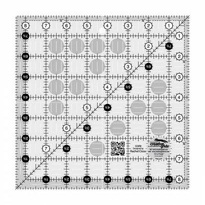 """8-1/2"""" x 8-1/2"""" Ruler - Creative Grids"""