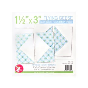 """1.5"""" x 3"""" Flying Geese Quilt Block Foundation Paper"""